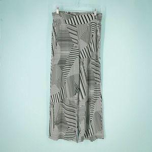 Ciara Sun Woo M Black Printed Wide Leg Pants
